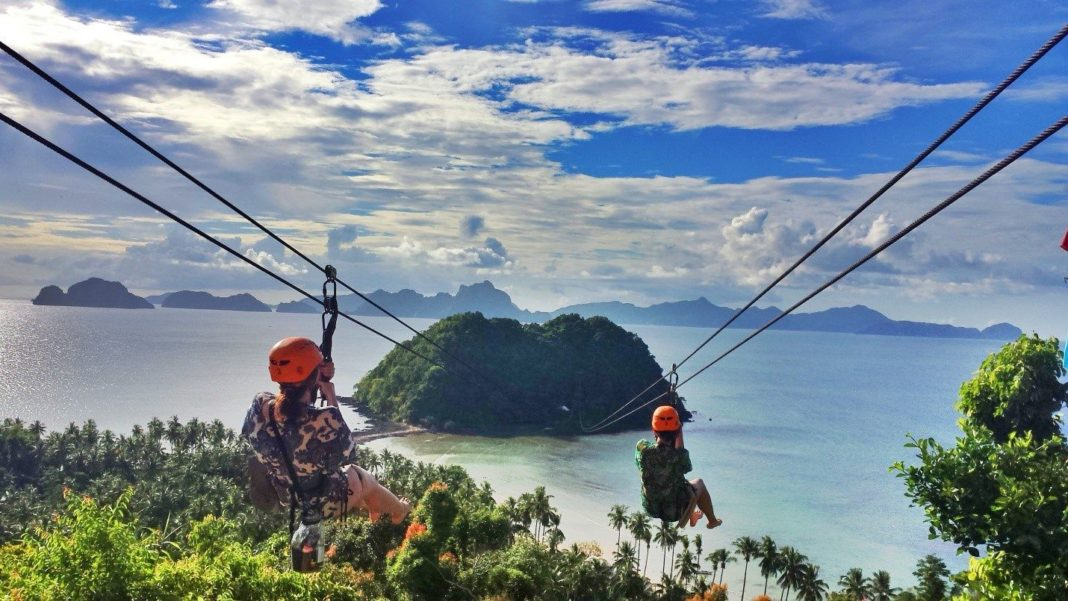 Zip Line na Filipinach